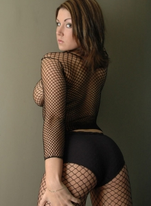 Krissy in black fishnet from Sweet Krissy