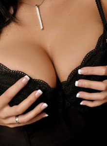 Krissy Plays With Her Huge Juicy Boobs After Freeing Them From Her Corset - Picture 3