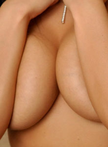 Krissy Plays With Her Huge Juicy Boobs After Freeing Them From Her Corset - Picture 10