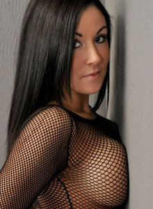 Sweet Krissy Loves To Tease With Her Big Juicy Tits In A Mesh Top - Picture 6