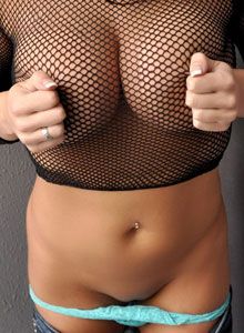 Sweet Krissy Loves To Tease With Her Big Juicy Tits In A Mesh Top - Picture 10