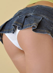 The Very Busty Sweet Krissy Shows Off Her Tight Round Ass In A Very Mini Skirt - Picture 4