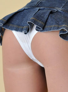 The Very Busty Sweet Krissy Shows Off Her Tight Round Ass In A Very Mini Skirt - Picture 5