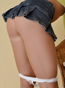 The Very Busty Sweet Krissy Shows Off Her Tight Round Ass In A Very Mini Skirt - Picture 8