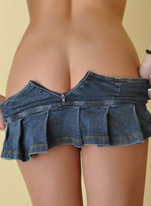 The Very Busty Sweet Krissy Shows Off Her Tight Round Ass In A Very Mini Skirt - Picture 11