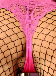 Krissy Shows Off Her Assets In Fishnets On The Stripper Pole - Picture 3