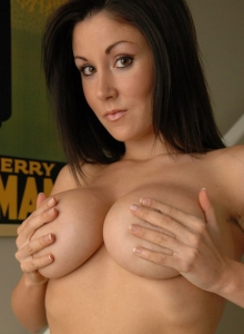 Krissys huge tits can barely stay in her corset from Sweet Krissy