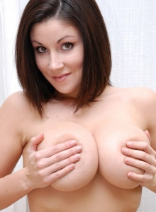 Krissy loves to touch her huge boobs from Sweet Krissy