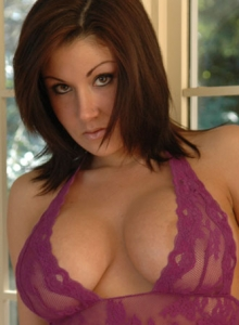 Krissy Popping Out Of Purple Lace - Picture 3